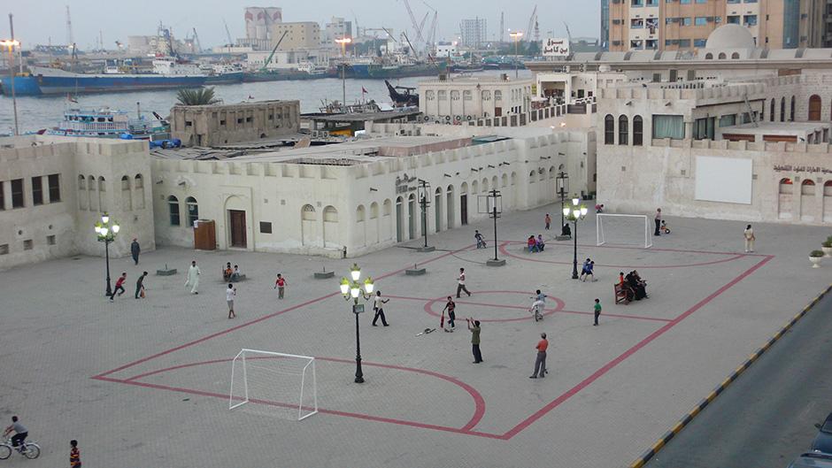 Maider López. Football field