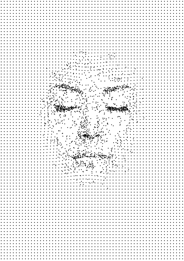 Sergi Delgado. Face broke dot pattern